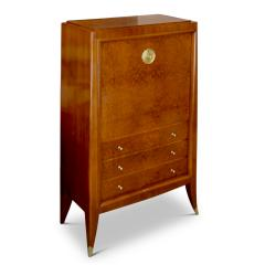 Alfred Porteneuve Secretaire and Cabinet Duo in Cherry and Burl by Alfred Porteneuve - 540400