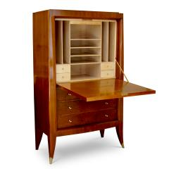 Alfred Porteneuve Secretaire and Cabinet Duo in Cherry and Burl by Alfred Porteneuve - 540409