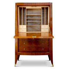Alfred Porteneuve Secretaire and Cabinet Duo in Cherry and Burl by Alfred Porteneuve - 540413