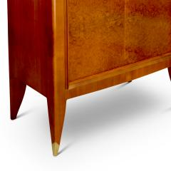 Alfred Porteneuve Secretaire and Cabinet Duo in Cherry and Burl by Alfred Porteneuve - 540414