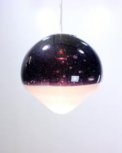 Alfredo Barbini Large Italian Handblown Glass Suspension Light Fixture by Alfredo Barbini - 362717