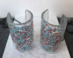 Alfredo Barbini Pair of Lamps Art Glass by Barbini Murano Italy 1980s - 544047