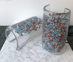 Alfredo Barbini Pair of Lamps Art Glass by Barbini Murano Italy 1980s - 544056