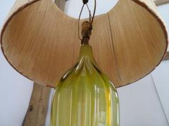 Alfredo Barbini Stunning Alfredo Barbini Yellow Ribbed Murano Glass Table Lamp Gold Flecks - 1708604