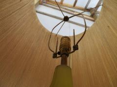 Alfredo Barbini Stunning Alfredo Barbini Yellow Ribbed Murano Glass Table Lamp Gold Flecks - 1708606