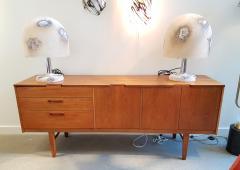 Alfredo Barbini Textured Murano Glass Mid Century Modern Table Lamps by Alfredo Barbini 1980s - 1137285