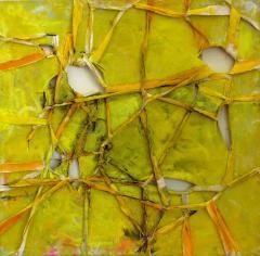Alfredo Ulloa Alfredo Ulloa Pierre Yellow 1 Abstract Painting - 534635