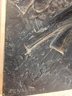 Alicia Penalba Stunning Bas relief by Alicia Penalba in metal alloy - 2091268