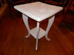 All Hand Carved Botanical 1920s French Side End Table - 1311998