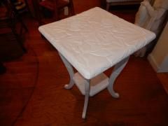 All Hand Carved Botanical 1920s French Side End Table - 1311999