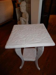 All Hand Carved Botanical 1920s French Side End Table - 1312003