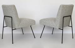Allan Gould Pair of Allan Gould Style Iron Frame Lounge Chairs - 998928