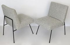 Allan Gould Pair of Allan Gould Style Iron Frame Lounge Chairs - 998930