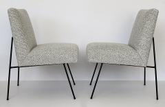 Allan Gould Pair of Allan Gould Style Iron Frame Lounge Chairs - 998931