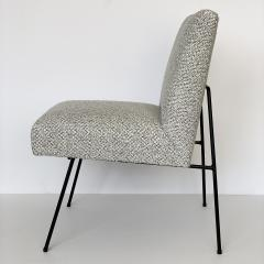 Allan Gould Pair of Allan Gould Style Iron Frame Lounge Chairs - 998934