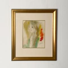 Alonzo Hauser Jeaninne 7 1 68 Watercolor Signed Alonzo Hauser - 1702174