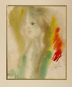 Alonzo Hauser Jeaninne 7 1 68 Watercolor Signed Alonzo Hauser - 1702175