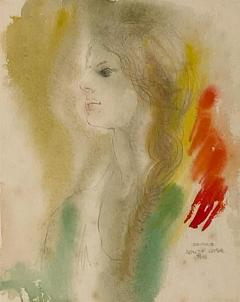 Alonzo Hauser Jeaninne 7 1 68 Watercolor Signed Alonzo Hauser - 1703161