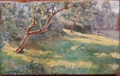 Alonzo St George Huntington Bright Forest Landscape Oil Painting by Alonzo St George Huntington - 1245507