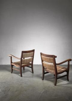 Alphons Fons Siebens Pair of Arts Crafts armchairs circa 1915 - 1300615