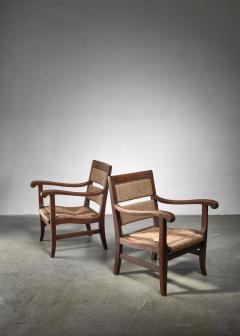 Alphons Fons Siebens Pair of Arts Crafts armchairs circa 1915 - 1300616