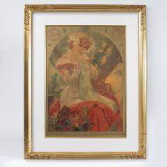 Alphonse Maria Mucha French Art Nouveau Lithograph La Princesse Lointaine by Alphonse Mucha - 1254204