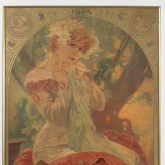 Alphonse Maria Mucha French Art Nouveau Lithograph La Princesse Lointaine by Alphonse Mucha - 1254206