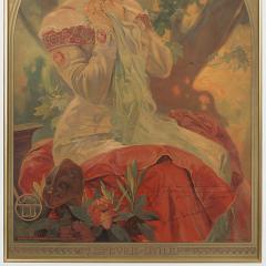 Alphonse Maria Mucha French Art Nouveau Lithograph La Princesse Lointaine by Alphonse Mucha - 1254207