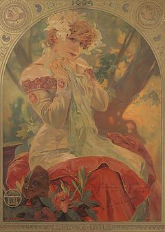 Alphonse Maria Mucha French Art Nouveau Lithograph La Princesse Lointaine by Alphonse Mucha - 1257134