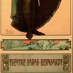 Alphonse Maria Mucha French Art Nouveau Lithograph titled Hamlet by Alphonse Mucha - 1116053