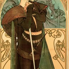 Alphonse Maria Mucha French Art Nouveau Lithograph titled Hamlet by Alphonse Mucha - 1116054