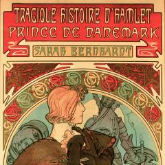 Alphonse Maria Mucha French Art Nouveau Lithograph titled Hamlet by Alphonse Mucha - 1116055