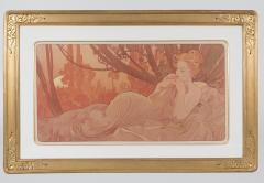 Alphonse Maria Mucha Pair of French Art Nouveau Lithographs Dawn and Dusk by Alphonse Mucha - 678864