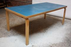 Alvar Aalto Alvar Aalto Birch Dining Or Writing Table With Blue Top And  Cabinet   452149