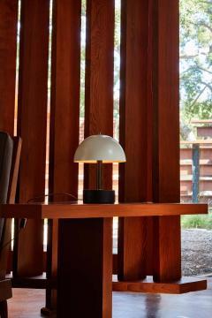 Alvaro Benitez Nena Table Lamp in White Metal and Wood by Alvaro Benitez - 1564706