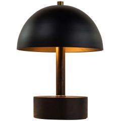 Alvaro Benitez Nena Table Lamp in White Metal and Wood by Alvaro Benitez - 1564707