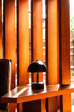Alvaro Benitez Nena Table Lamp in White Metal and Wood by Alvaro Benitez - 1564708