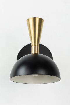 Alvaro Benitez Pair of Lola Brass and Metal Adjustable Sconces - 517371