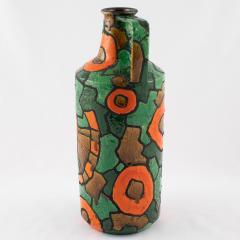 Alvino Bagni Alvino Bagni for Raymor orange and green vase circa 1960s - 1053363