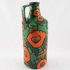 Alvino Bagni Alvino Bagni for Raymor orange and green vase circa 1960s - 1053364