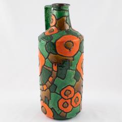 Alvino Bagni Alvino Bagni for Raymor orange and green vase circa 1960s - 1053365