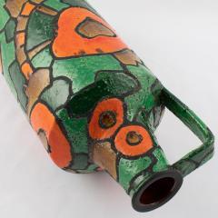 Alvino Bagni Alvino Bagni for Raymor orange and green vase circa 1960s - 1053367