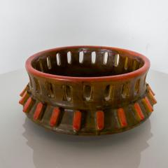 Alvino Bagni Italy RAYMOR ALVINO BAGNI Sea Garden Orange ASHTRAY Carved Ceramic Art 1960 - 1549298