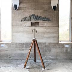Amazing Architect Surveyor Base Oak Tripod Floor Lamp Repurposed Vintage - 1691008