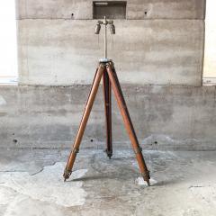 Amazing Architect Surveyor Base Oak Tripod Floor Lamp Repurposed Vintage - 1691010