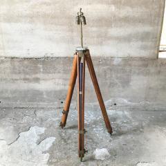 Amazing Architect Surveyor Base Oak Tripod Floor Lamp Repurposed Vintage - 1691011
