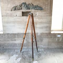 Amazing Architect Surveyor Base Oak Tripod Floor Lamp Repurposed Vintage - 1691015