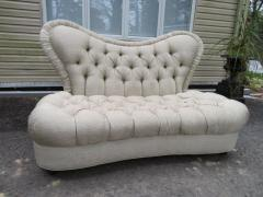 Amazing Fun Hollywood Regency Tall Tufted Back Loveseat - 1376059