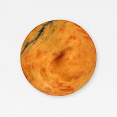 Amber Colored Alabaster Light Fixture - 1080676