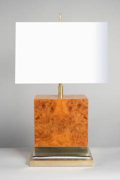 Amboyna Root Wood Table Lamp France 1970s - 677316
